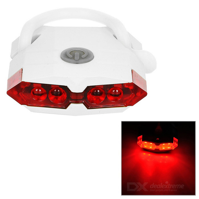 Leadbike USB Powered 4-Mode 4-LED Red Light Bike Taillight - White