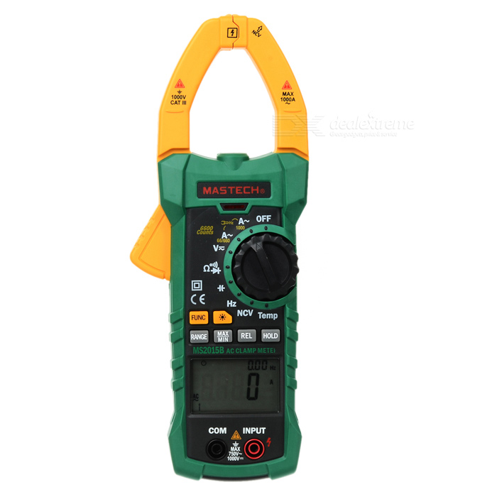 MASTECH MS2015B 1000A Clamp Meter Capacitance Frequency Temp