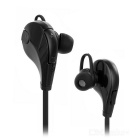 Q7 Sports Bluetooth V4.0 Plano In-Ear Headset w / Mic - Black