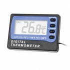 "Waterproof 2"" Screen Refrigerator / Freezer Digital Thermometer - Black + Blue (1 x AAA)"