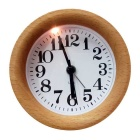 Creative Solid Wood Desk Clock Alarm Clock w/ Night Light, Snooze Function (1 x AA)
