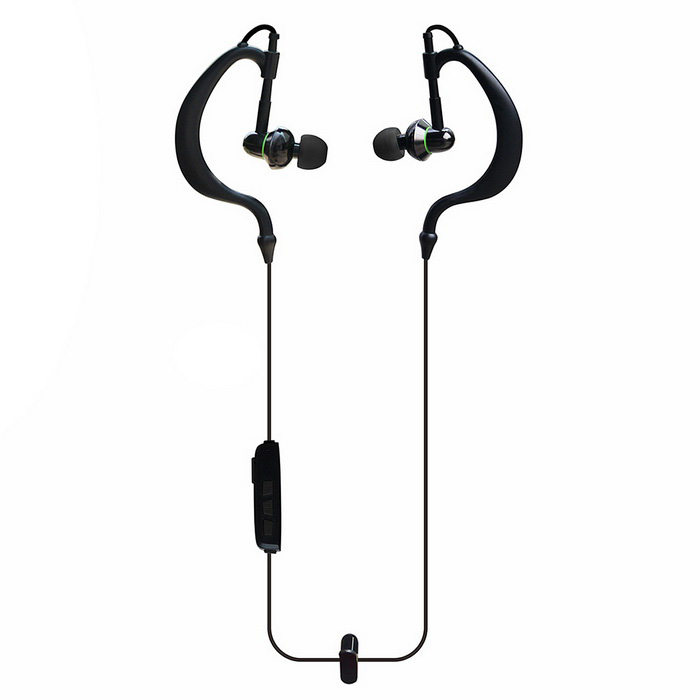 w-king S11 urheilu sweatproof bluetooth in-ear kuuloke - musta