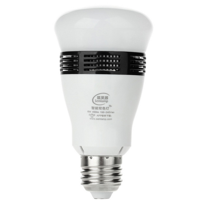 Semlamp SL-121 E27 6W iOS / Android Phone Control Dimmable LED Bulb