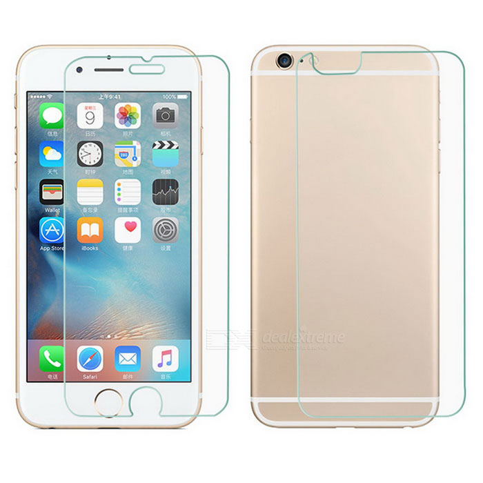 Douximai transparent verre avant + dos film pour IPHONE 6S / 6 - transparent