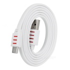 USB 3.1 Type-C Male to Male Flat Data Charging Cable - White (100cm)