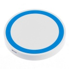 QI Standard Wireless Charger Charging Pad for Mobile Phone & More - White + Blue