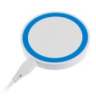QI Wireless Charger Charging Pad for Phone & More - White + Blue