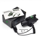 LED 200lm Laser Flashlight Combo Light + Green Laser Sight for Hunting