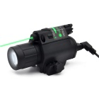 Tactical LED 200lm Laser Flashlight Combo/Light + Green Laser  Sight w/ Tail Switch for Hunting
