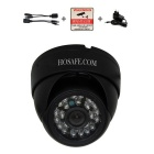 HOSAFE 1MD1B 1.0MP 720P HD IP Camera w/ POE Kit , 24-IR-LED, ONVIF, Motion Detection - Black