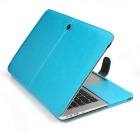 "ASLING Protective PU Leather Case for Apple MacBook Air 11.6"" - Blue"