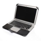 "Protective PU Leather Case for Apple MacBook Air 11.6"" - Black"