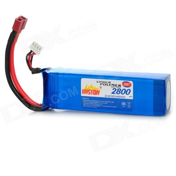 Mystery 11.1V 2800mAh 30C Rechargeable Li-Po Battery for R/C Helicopters - DXBatteries &amp; Chargers<br>Capacity: 2800mAh - Voltage: 11.1V - Continuous discharge rate: 30C - Read instructions before use<br>