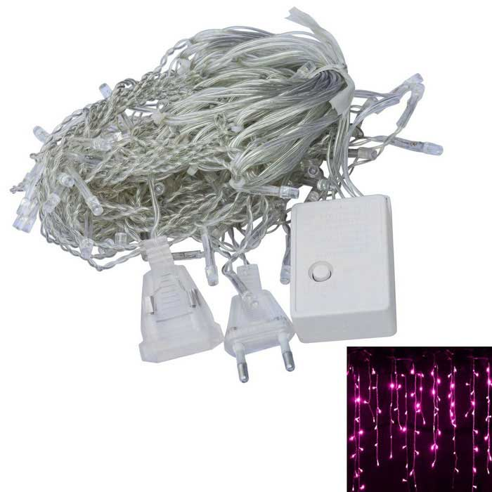 JIAWEN 4W 100-LED 8-Mode Pink Light Christmas String Light (3m)