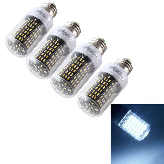 YouOKLight E27 15W LED lámpara del maíz del bulbo blanco fresco 6000K 138-SMD (4PCS)