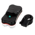 Seat Post Mounted 7-Mode 6-LED Colorful Taillight Bike Light - Black