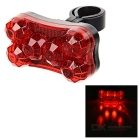 Seat Post Mounted 7-Mode 6-LED Red Light Taillight Bike Warning Light - Black + Red (2 x AAA)