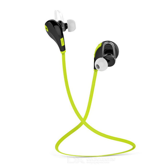 Outdoor Sports Bluetooth V4.0 In-Ear Earphone w/ Mic - Black + Green