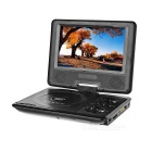 Portable 7'' 270 Degree Rotary Screen DVD Player w/ Analog TV / Game / Radio Function - Black