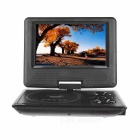 "Portable 7"" 270 'Rotary Screen DVD Player con TV analógica, Radio - Negro"