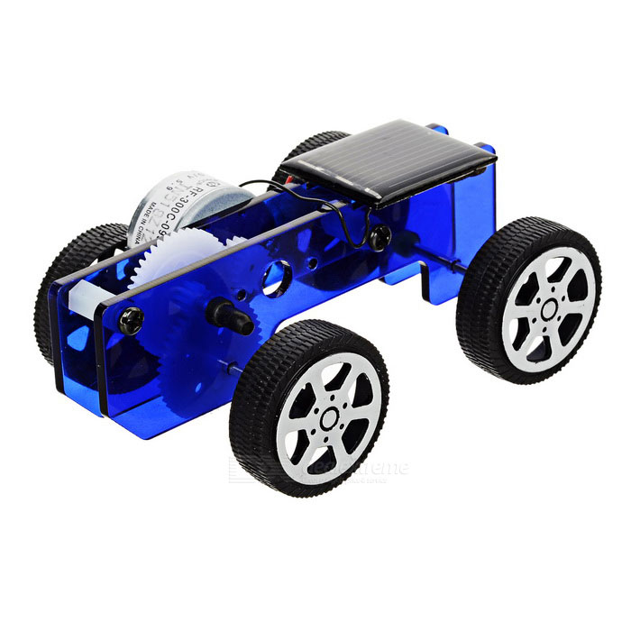 DIY Assembling Educational Solar Powered Car Toy - Blue + BlackSolar Powered Toys<br>Form ColorBlue + Black + Multi-ColoredMaterialAcrylicQuantity1 DX.PCM.Model.AttributeModel.UnitShape StyleCarNumber0Size9.2 x 6.2 x 3.5cmSuitable Age 5-7 years,8-11 years,12-15 yearsAssemblingYesMotorYesPacking List4 x Wheels1 x Car body2 x Gears1 x Motor + solar panel set1 x Screwdriver3 x Car axles2 x Axle sleeves4 x M3 screws2 x Plastic sleeves2 x Separation pillars<br>