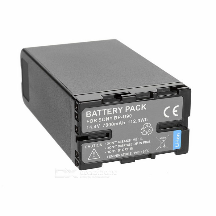 14.4V 6600mAh Battery w/ Indicator for Sony PMW-EX1, PMW-EX1R - Black