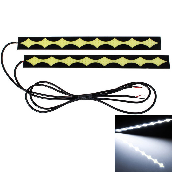 Star Design 12W 85-LED Cold White Car Daytime Running Light (Pair)