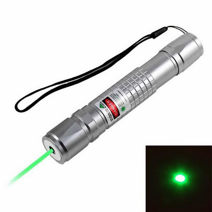 KF-681 532nm Green Square Laser Pointer - Silver (1*18650)