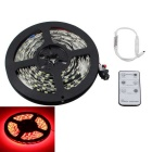 KINFIRE Waterproof 300-SMD 5630 LED Red Light Strip + 6-Key Remote Controller - Black (DC12V/5m)