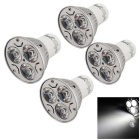 YouOkLight GU10 3W 3-LED Spotlight Bulb White Cool Light  280lm (4PCS)