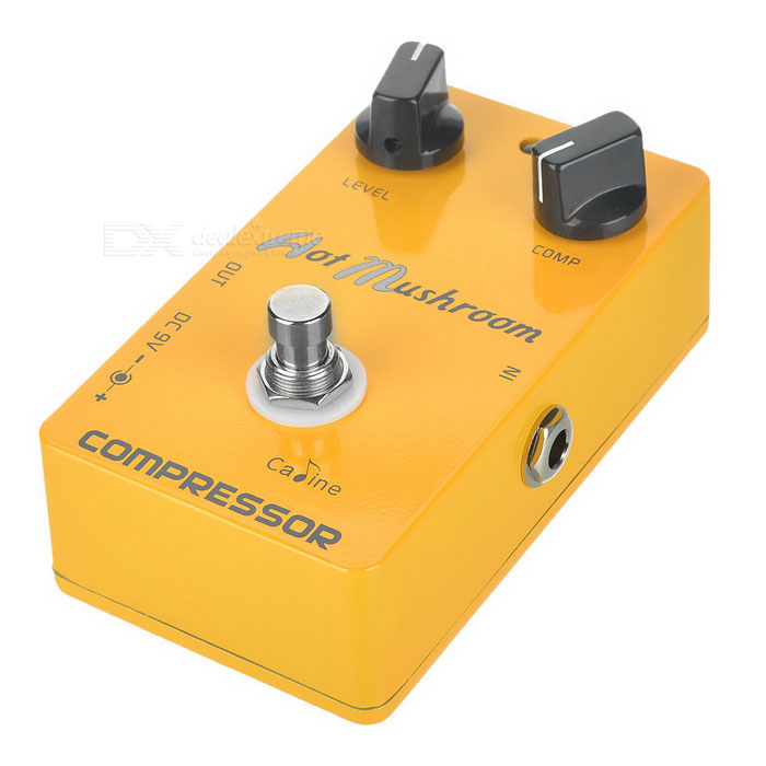 CALINE CP-10 Hot Mushroom Compressor Electric Guitar Pedal - Yellow