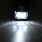 3-Mode 5-LED Cold White Light Bike Headlamp - White + Black