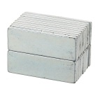 30*10*2mm NdFeB Strong Magnets - Silver (20PCS)