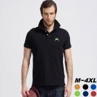 Men's Frog Pattern Embroidery Short Sleeve Large Size Big Size Polo-Shirt