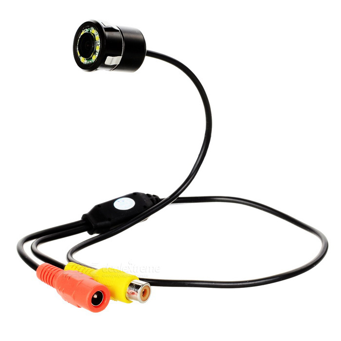 PZ4018 universele 8-LED-auto camera recorder - zwart