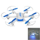 JJRC H21 4H 2.4GHz Radio Control 6-Axis Quadcopter w/ LCD - Blue + White