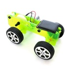DIY Assembling Educational Solar Powered Car Toy - Yellowish Green