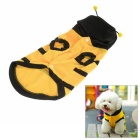Bumblebee Bee Style Pet Dog Cat Puppy Dress up Costume Coat Clothes - Yellow + Gun Black (XXXL)