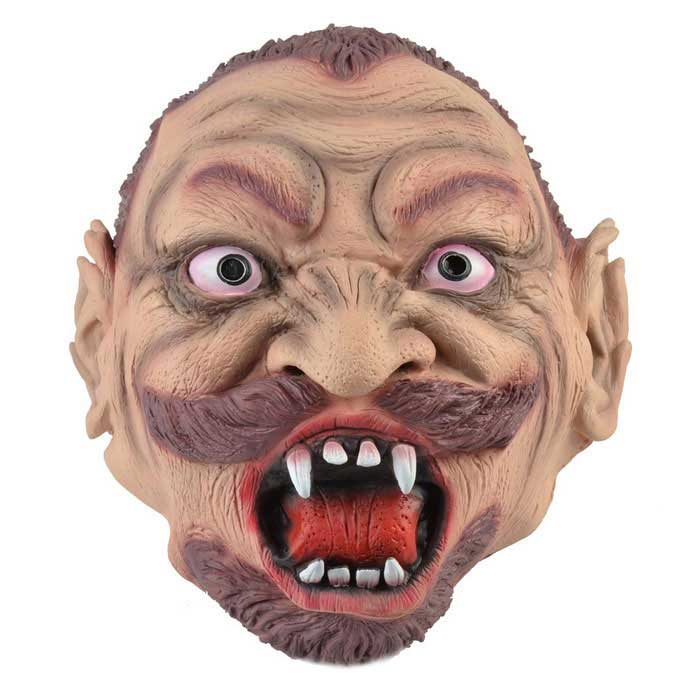 maschera di gomma rabbia zombie per cosplay costume party / Halloween - carne