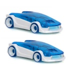 Intellectual DIY Mini Assembled Salt Water Powered Car Toy for Kid - White + Blue (2 PCS)