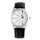 Kasi Y106 Unisex Simple Dual Dials Arabic Numerals Waterproof Quartz Analog Watch - White + Black