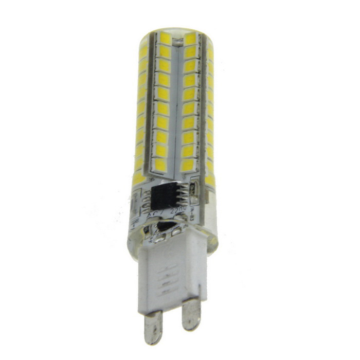 G9 8W Dimmable LED Light Emitter Bulb Warm White 3200K 660lm 80-SMD
