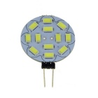 G4 3W 12-SMD 5730 LED 400lm Round Board LED Light Bulb Cool White + G4 Ceramic Base