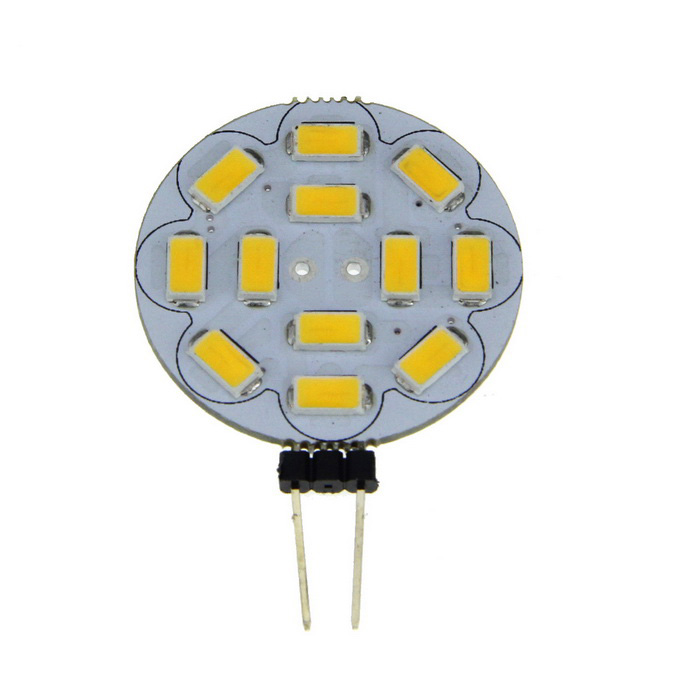 G4 3W 12-LED 360lm Round Board LED Light Warm White + G4 Ceramic BaseG4<br>Form  ColorSilver + YellowColor BINWarm WhiteMaterialAluminum alloyQuantity1 DX.PCM.Model.AttributeModel.UnitPower3WRated VoltageOthers,12-14 DX.PCM.Model.AttributeModel.UnitConnector TypeG4Emitter TypeOthers,5730Total Emitters12Theoretical Lumens360 DX.PCM.Model.AttributeModel.UnitActual Lumens360 DX.PCM.Model.AttributeModel.UnitColor Temperature12000K,Others,3200KDimmableNoBeam Angle360 DX.PCM.Model.AttributeModel.UnitPacking List1 x LED Emitter Bulb<br>