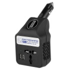 150W DC 12V to AC 220V Car Smart Power Inverter w/ Dual USB / AC Socket - Black