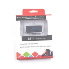 3.5mm Car A2DP Bluetooth AUX Audio Music Receiver Adapter - Black+Blue
