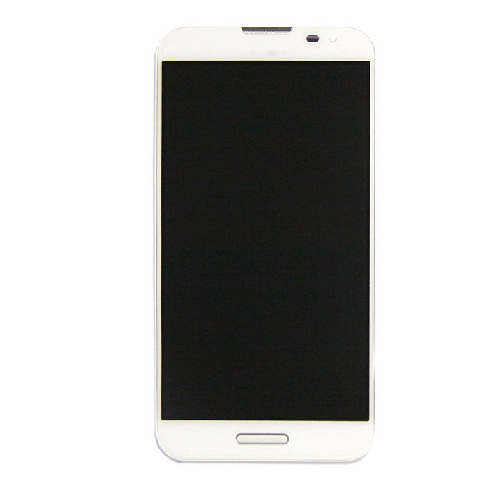 Skiliwah LCD Screen Display Digitizer w/ Bezel Frame Assembly - White