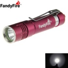 FandyFire 130lm 1-LED White Light Head Rotatable Flashlight - Red (1 x AAA )