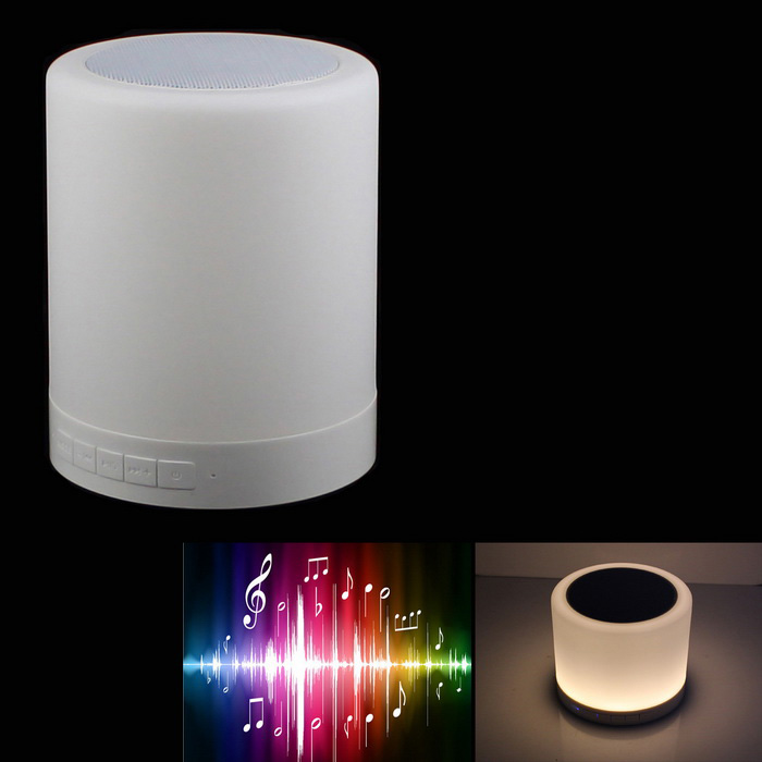 1.6W Warm White Light LED Touch Lamp Bluetooth Speaker - White ...