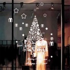 Beautiful Christmas Tree PVC Wall Decals / Stickers - White